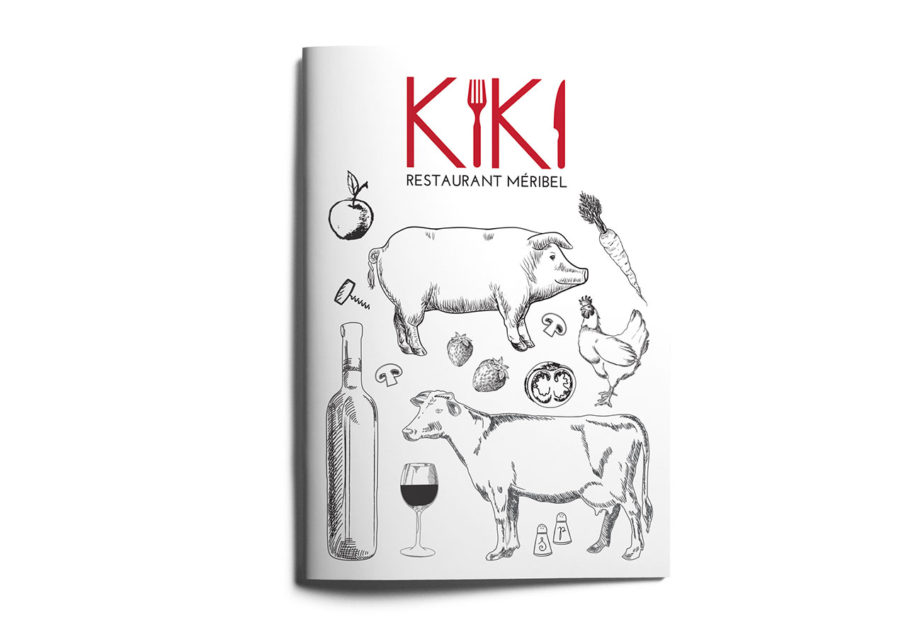portfolio-kiki-restaurant-meribel-menu-1-florence-borrel-flobo-design-graphique-infographie-webdesign-savoie-tarentaise-meribel-menuires-courchevel